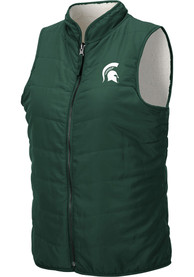 Michigan State Spartans Womens Colosseum Blatch Reversible Vest - Green