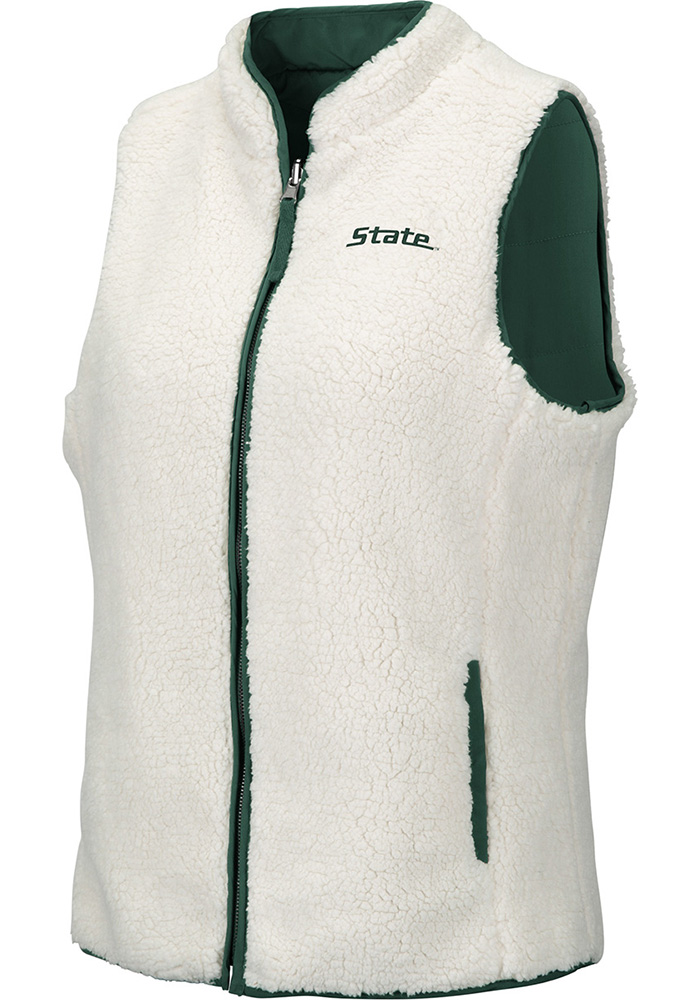 Colosseum Michigan State Spartans Womens Green Blatch Reversible Vest - Image 2