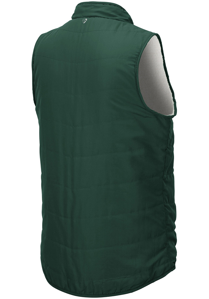 Colosseum Michigan State Spartans Womens Green Blatch Reversible Vest - Image 3