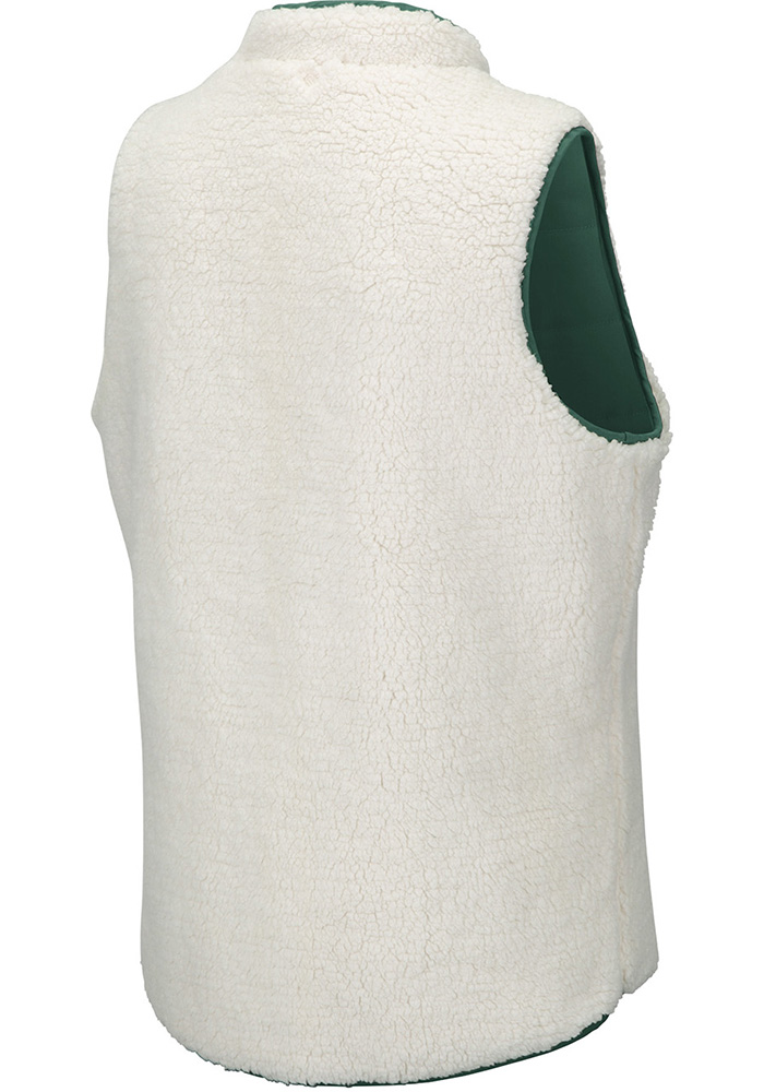 Colosseum Michigan State Spartans Womens Green Blatch Reversible Vest - Image 4