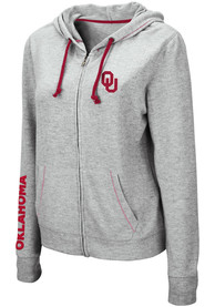 Oklahoma Sooners Womens Colosseum Manhattan Full Zip Jacket - Grey