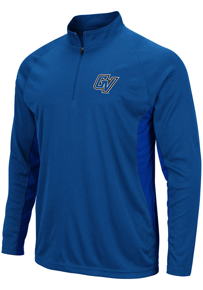 Colosseum Grand Valley State Lakers Mens Blue Kliff Long Sleeve 1/4 Zip Pullover - Image 1
