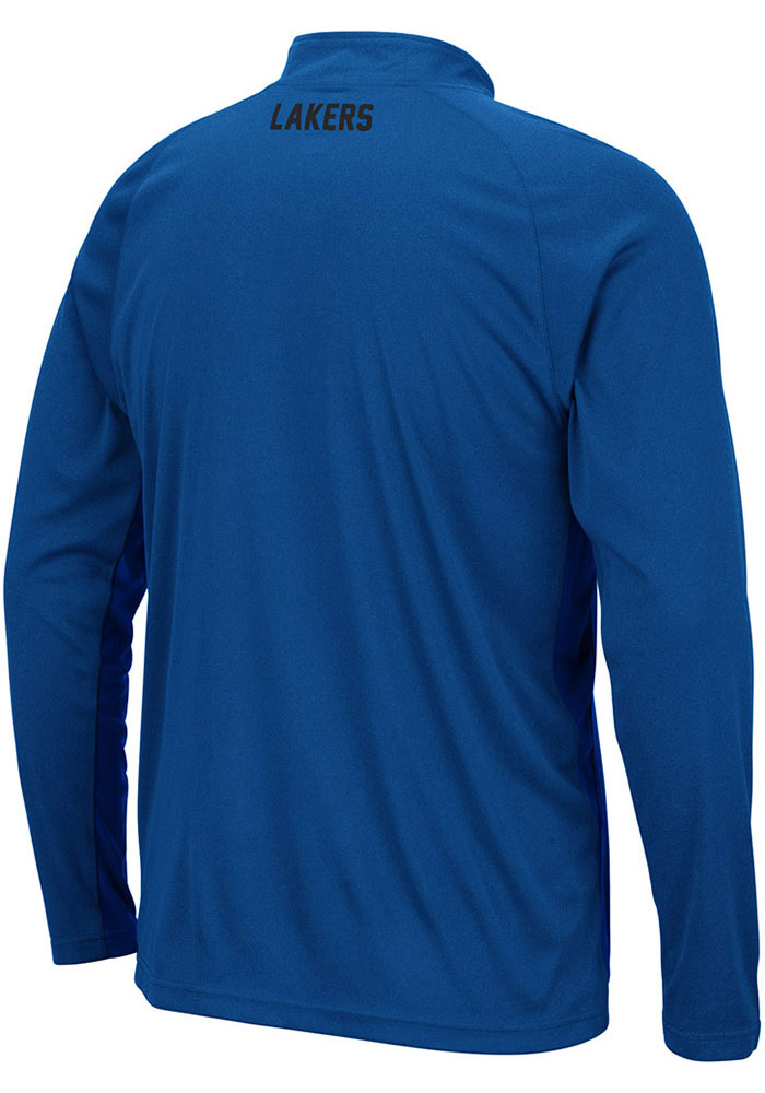 Colosseum Grand Valley State Lakers Mens Blue Kliff Long Sleeve 1/4 Zip Pullover - Image 2
