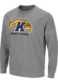 Kent State Golden Flashes Colosseum Henry French Terry Crew Sweatshirt - Grey