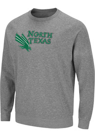 North Texas Mean Green Colosseum Henry French Terry Crew Sweatshirt - Grey