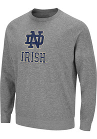 Notre Dame Fighting Irish Colosseum Henry French Terry Crew Sweatshirt - Grey