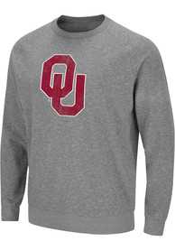 Oklahoma Sooners Colosseum Henry French Terry Crew Sweatshirt - Grey