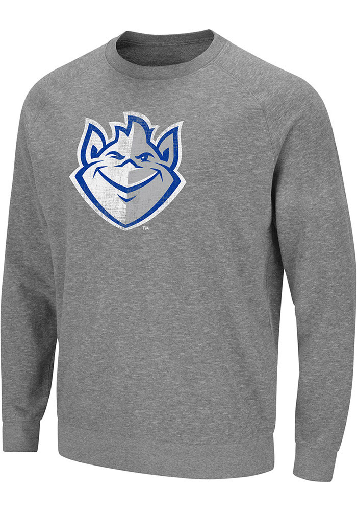 Colosseum Saint Louis Billikens Grey Henry French Terry Sweatshirt