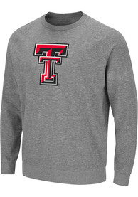 Texas Tech Red Raiders Colosseum Henry French Terry Crew Sweatshirt - Grey