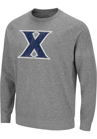 Xavier Musketeers Colosseum Henry French Terry Crew Sweatshirt - Grey