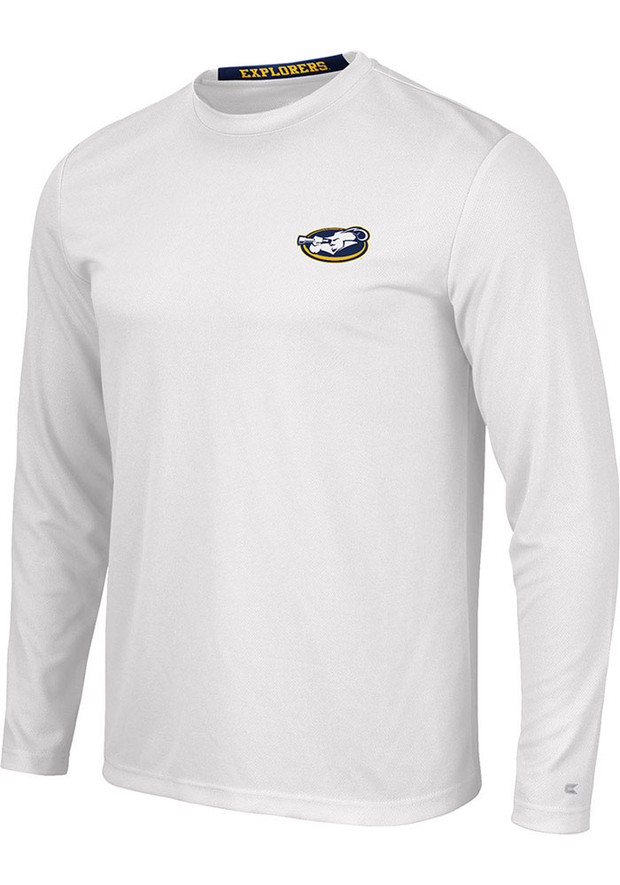Colosseum La Salle Explorers White Wade Long Sleeve T-Shirt - Image 1