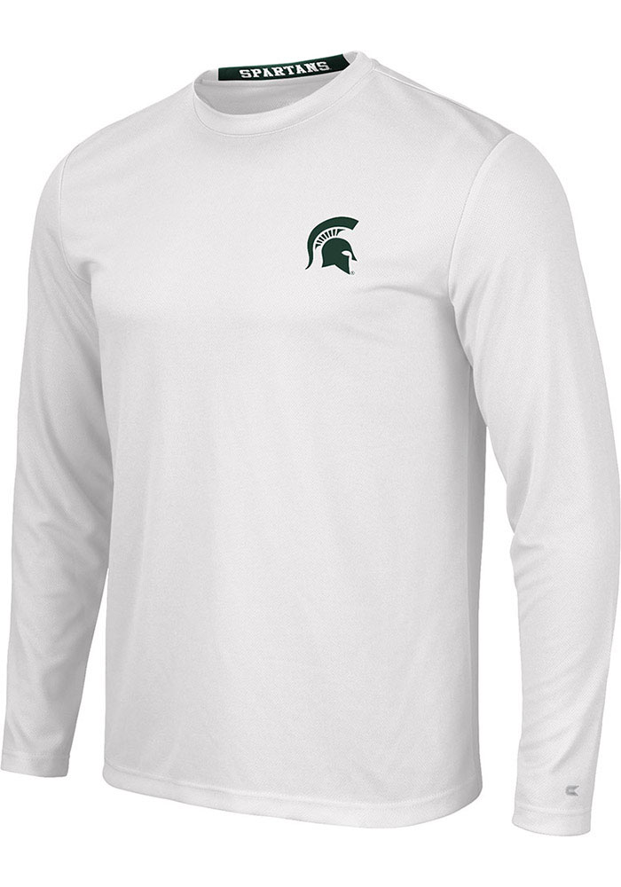 Colosseum Michigan State Spartans White Wade Long Sleeve T-Shirt - Image 1