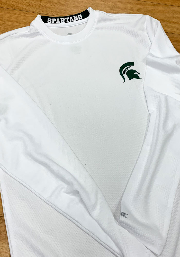 Colosseum Michigan State Spartans White Wade Long Sleeve T-Shirt - Image 2