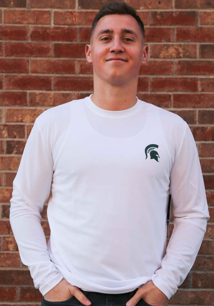 Colosseum Michigan State Spartans White Wade Long Sleeve T-Shirt - Image 3