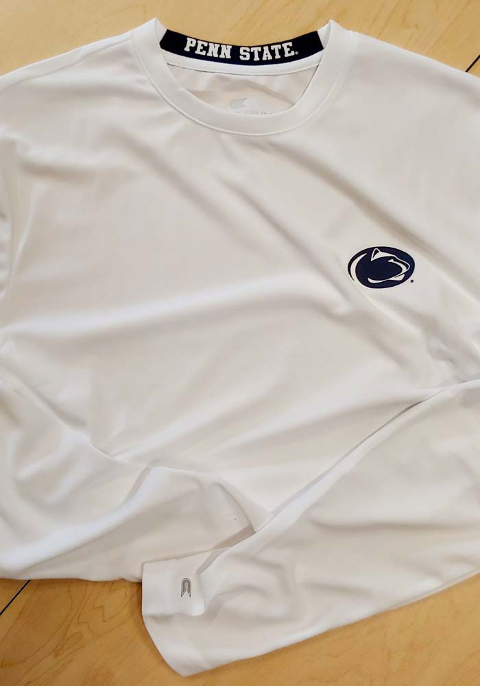 Colosseum Penn State Nittany Lions White Wade Long Sleeve T-Shirt - Image 2