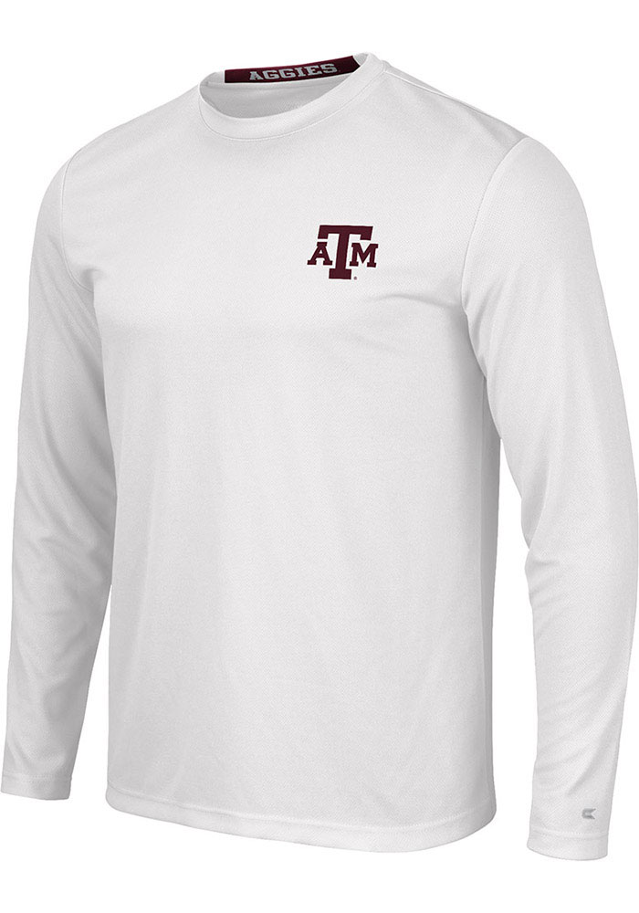 Colosseum Texas A&M Aggies White Wade Long Sleeve T-Shirt - Image 1