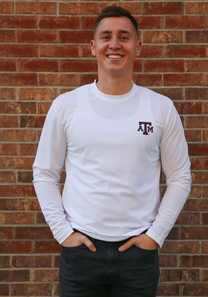 Colosseum Texas A&M Aggies White Wade Long Sleeve T-Shirt - Image 2