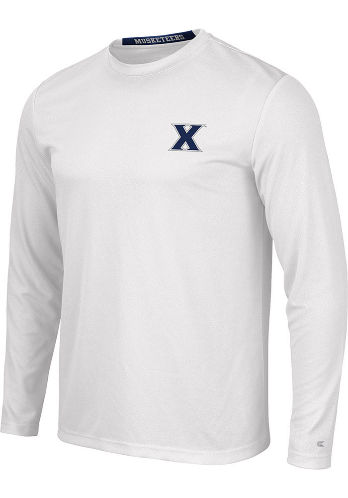 Colosseum Xavier Musketeers White Wade Long Sleeve T-Shirt - Image 1