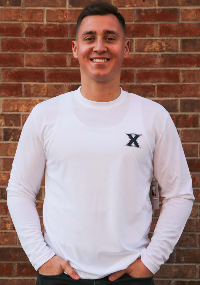 Colosseum Xavier Musketeers White Wade Long Sleeve T-Shirt - Image 3
