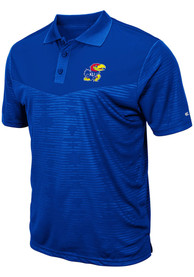 Kansas Jayhawks Colosseum Finn Heathered Polo Shirt - Blue