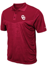 Oklahoma Sooners Colosseum Finn Heathered Polo Shirt - Crimson