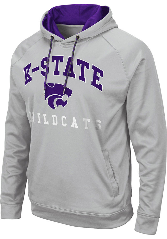 Colosseum K-State Wildcats Mens Grey Coach Hood - Image 1