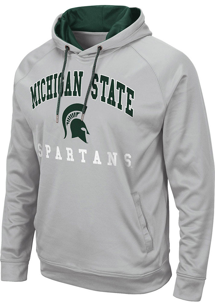 Colosseum Michigan State Spartans Mens Grey Coach Hood - Image 1