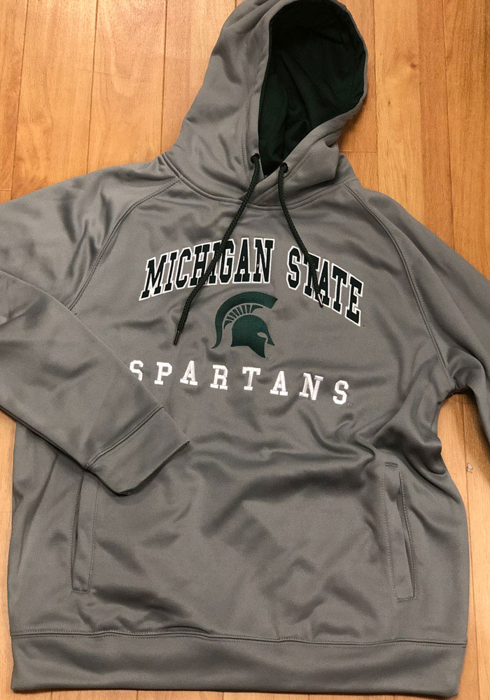 Colosseum Michigan State Spartans Mens Grey Coach Hood - Image 2
