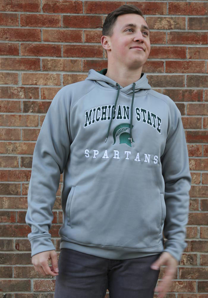 Colosseum Michigan State Spartans Mens Grey Coach Hood - Image 3