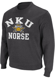 Northern Kentucky Norse Colosseum Stadium Crew Sweatshirt - Black