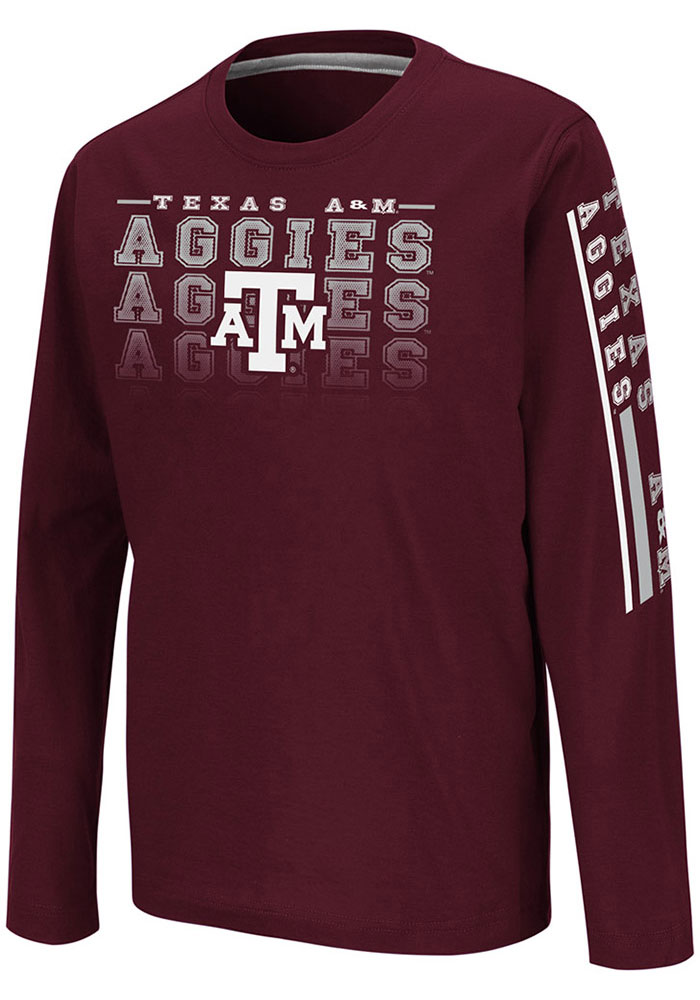 Colosseum Texas A&M Aggies Youth Maroon Beaker Long Sleeve T-Shirt - Image 1