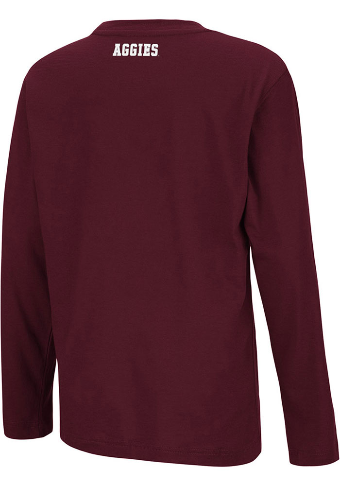 Colosseum Texas A&M Aggies Youth Maroon Beaker Long Sleeve T-Shirt - Image 2