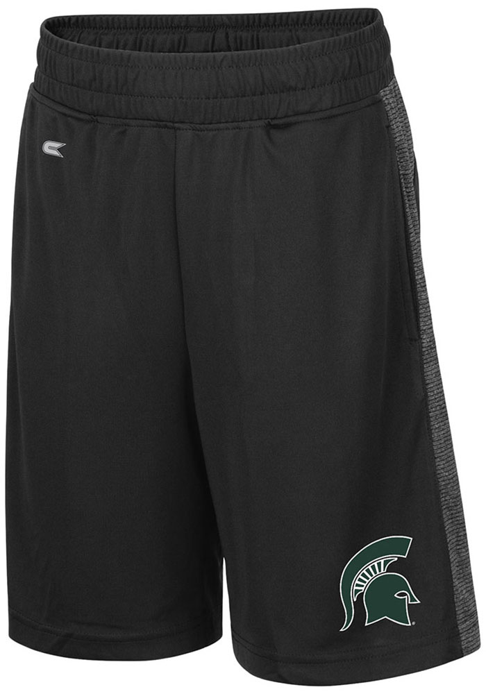 Colosseum Michigan State Spartans Youth Black Sabertooth Shorts - Image 1