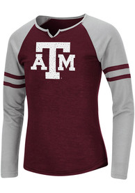 Texas A&M Aggies Girls Colosseum Andy Long Sleeve T-shirt - Maroon