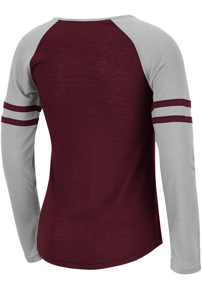 Colosseum Texas A&M Aggies Girls Maroon Andy Long Sleeve T-shirt - Image 2