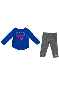 Kansas Jayhawks Infant Girls Colosseum Sweetums Top and Bottom - Blue