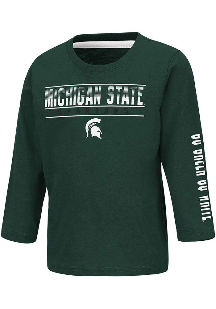 Colosseum Michigan State Spartans Toddler Green Flackless Long Sleeve T-Shirt - Image 1