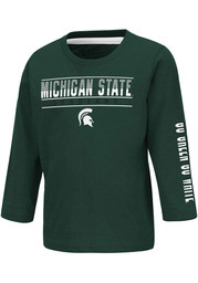Colosseum Michigan State Spartans Toddler Green Flackless Long Sleeve T-Shirt