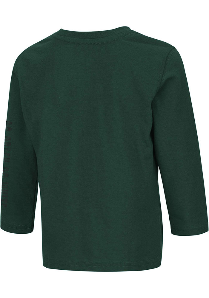Colosseum Michigan State Spartans Toddler Green Flackless Long Sleeve T-Shirt - Image 2
