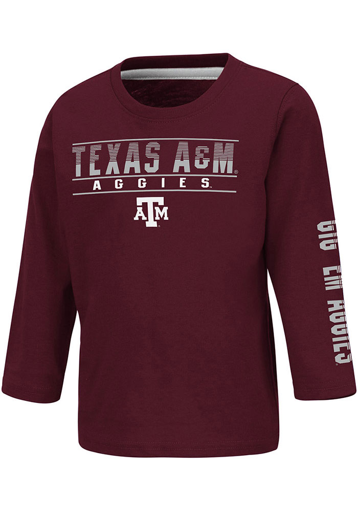 Colosseum Texas A&M Aggies Toddler Maroon Flackless Long Sleeve T-Shirt - Image 1
