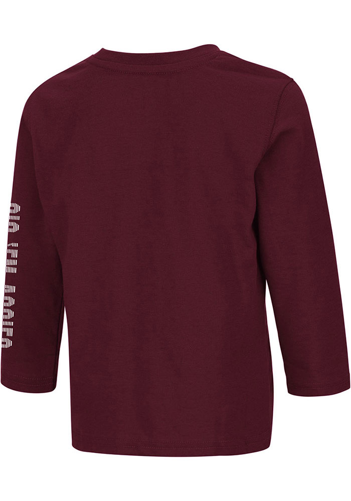 Colosseum Texas A&M Aggies Toddler Maroon Flackless Long Sleeve T-Shirt - Image 2