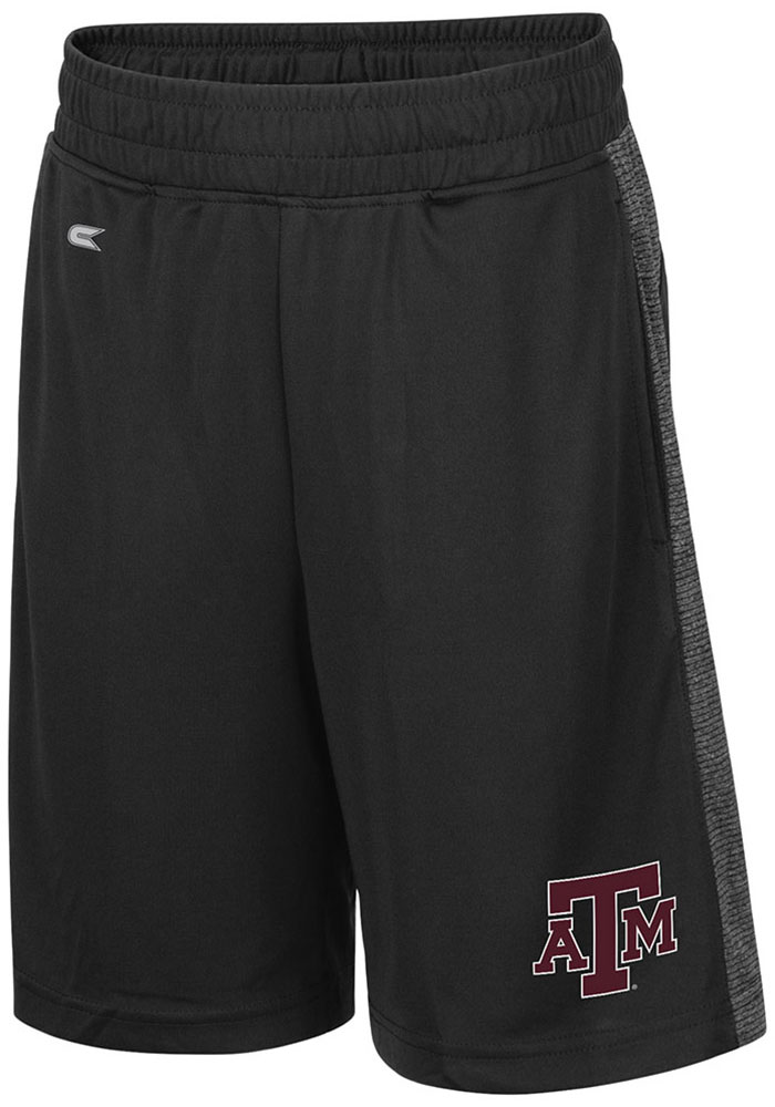 Colosseum Texas A&M Aggies Youth Black Sabertooth Shorts - Image 1