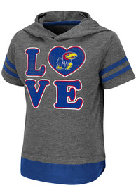Kansas Jayhawks Toddler Girls Colosseum Yabba T-Shirt - Charcoal