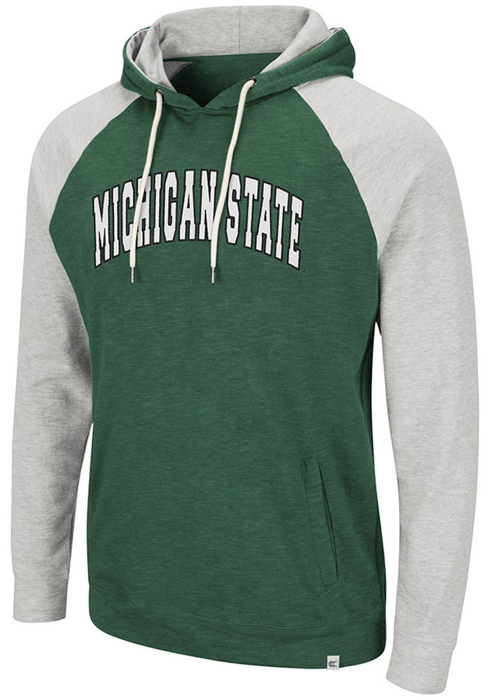 Michigan State Spartans Colosseum Camping Hooded Sweatshirt - Green