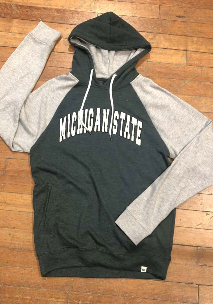 Colosseum Michigan State Spartans Mens Green Camping Long Sleeve Hoodie - Image 2