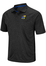 Kansas Jayhawks Colosseum Vip Polo Shirt - Charcoal