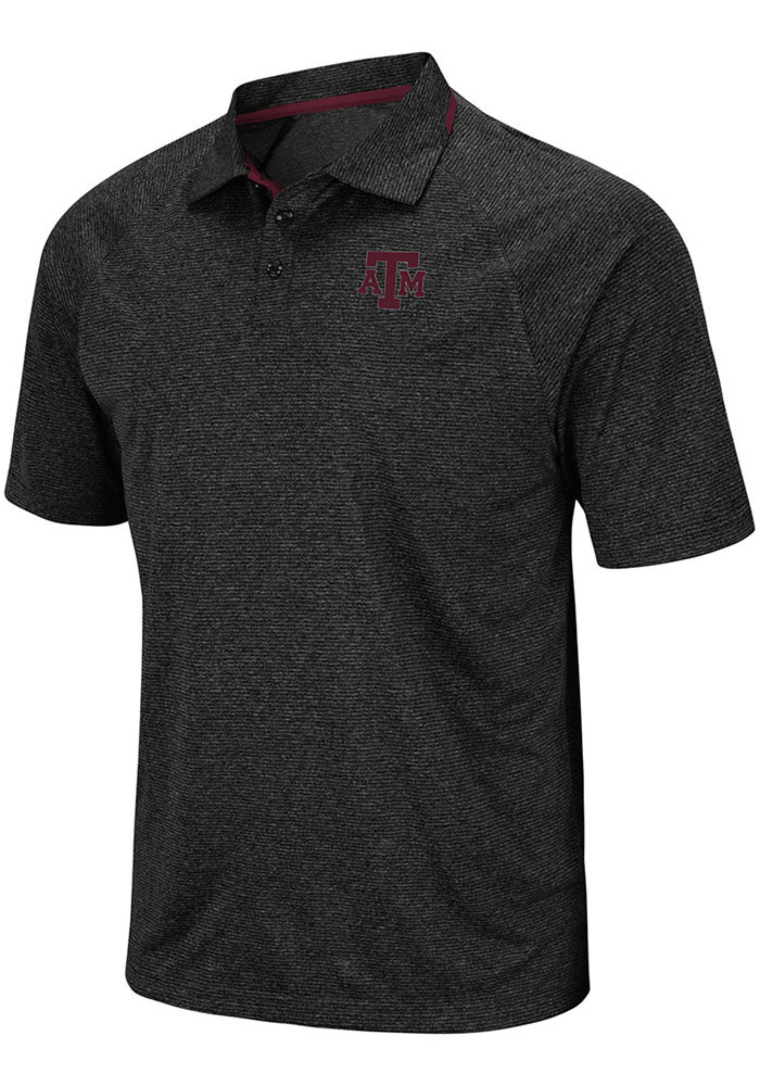 Texas A&M Aggies Colosseum Vip Polo Shirt - Charcoal