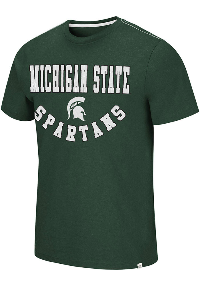 Colosseum Michigan State Spartans Green Traeger Short Sleeve Fashion T Shirt - Image 1