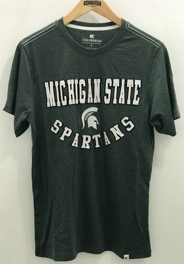 Colosseum Michigan State Spartans Green Traeger Short Sleeve Fashion T Shirt - Image 2