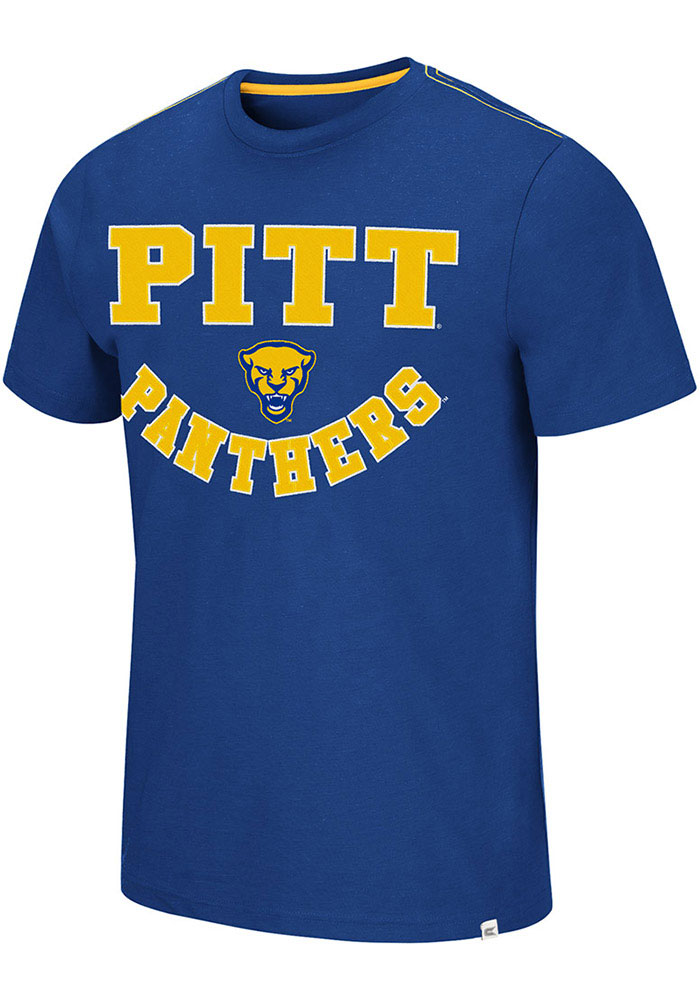 Pitt Panthers Colosseum Traeger Fashion T Shirt - Blue
